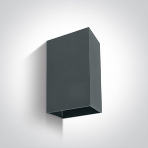 Wand spot rechthoek compleet - IP54 - 2x3W - Warm wit licht - Antraciet