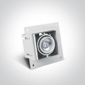Trimless spot - Aluminium - GU10 - IP20 - Enkel - Wit