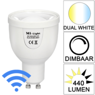 Milight Wifi led spot Dual White 5 Watt GU10 fitting